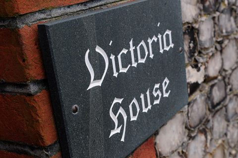 Victoria House sign